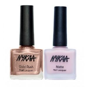 Buy Nykaa Gold Digger Nail Enamel Combo - Nykaa