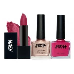 Buy Nykaa Shimmer Time Nail & Lipstick Combo - Nykaa