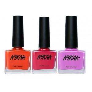 Buy Nykaa Crazy Three Nail Enamel Combo - Nykaa