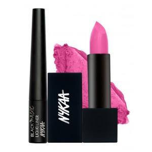Buy Nykaa Pink Pleats Eyes & Lips Combo - Nykaa