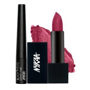 Buy Nykaa Black Winged Eyes & Lips Combo - Nykaa