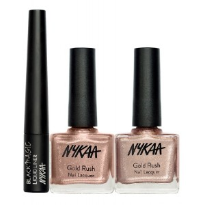 Buy Nykaa Gold Wear Eyes & Nails Combo - Nykaa