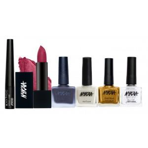 Buy Nykaa Tempting Lines Eyes Lips & Nails Combo - Nykaa