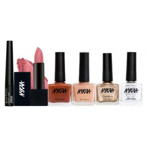 Buy Nykaa New Trend Eyes Lips & Nails Combo - Nykaa