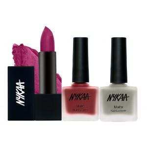Buy Nykaa Nothin' On You Nail and Lipstick Combo - Nykaa