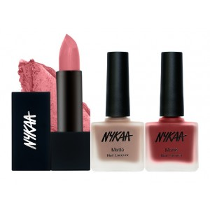 Buy Nykaa Hot Damn! Nail and Lipstick Combo - Nykaa