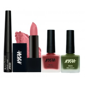 Buy Nykaa Stone Hearted Eyes Lips & Nails Combo - Nykaa