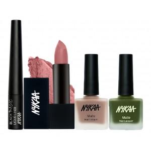 Buy Nykaa Bare It All! Eyes Lips & Nails Combo - Nykaa