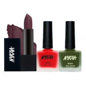Buy Nykaa All I Want For X'Mas Lips and Nails Combo - Nykaa