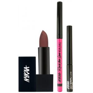 Buy Nykaa Stay Longer Eyes & Lips Combo - Nykaa