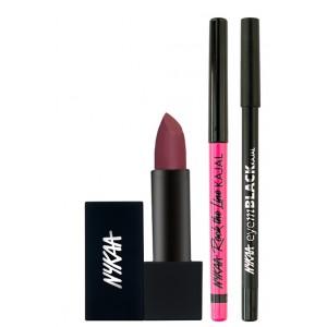 Buy Nykaa Midnight Madness Eyes & Lips Combo - Nykaa