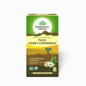 Buy Organic India Tulsi Honey Chamomile Tea (25 Tea Bag) - Nykaa