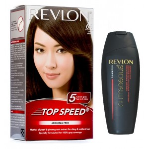 Buy Revlon Top Speed Hair Color - Woman (Dark Brown 65) With Free Color Protection Shampoo Worth Rs. 115/- - Nykaa