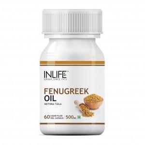 Buy INLIFE Fenugreek Seed Oil 60 Vegetarian Capsules Sugar Balance and Womens Health - Nykaa