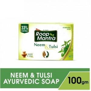 Buy Roop Mantra Neem & Tulsi Ayurvedic Soap - Nykaa