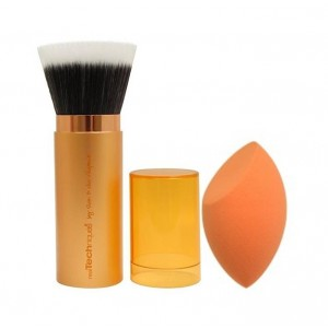 Buy Real Techniques Retractable Bronzer Brush + Miracle Complexion Sponge - Nykaa