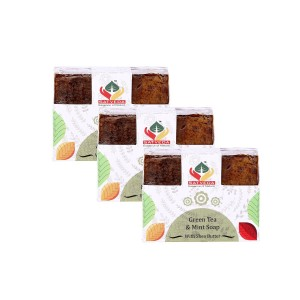 Buy Satveda Green Tea & Mint Soap Pack Of 3 - Nykaa