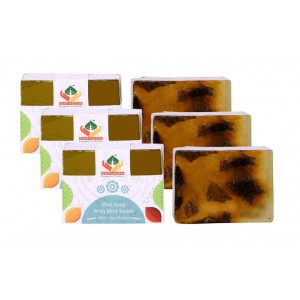 Buy Satveda Mint Soap With Mint Beads Pack Of 3 - Nykaa