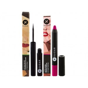 Buy SUGAR Matte As Hell Crayon Lipstick - Mary Poppins & Eyeliner Combo - Nykaa