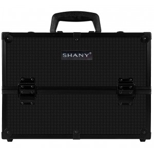 Buy Shany Essential Pro Makeup Train Case With Shoulder Strap And Locks - All Black - Nykaa