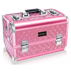 Buy Shany Fantasy Collection Makeup Artists Cosmetics Train Case - Pink Diamond - Nykaa