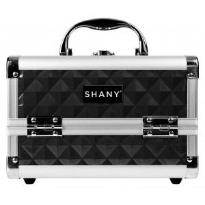 Buy Shany Mini Makeup Train Case With Mirror In Black And Silver Frame - Nykaa