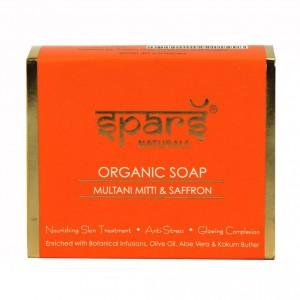 Buy Spars Naturals Organic Soap With Multani Mitti & Saffron - Nykaa