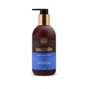 Buy SoulTree Aamla And Vetiver With Purifying Neem Hair And Body Wash - Nykaa
