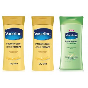 Buy Buy 2 Vaseline Intensive Care Deep Restore Body Lotion & Get Aloe Soothe Body Lotion Free - Nykaa