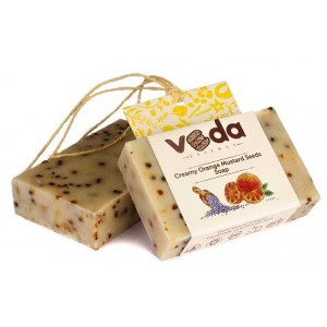 Buy Veda Essence Creamy Orange Mustard Seeds Soap - Nykaa