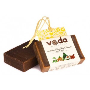 Buy Veda Essence Sandalwood Almond  Vit E Avocado Neem Soap - Nykaa