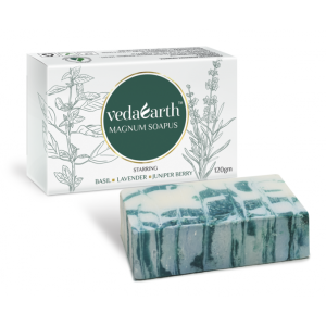 Buy VedaEarth Magnum Basil, Lavender, Juniper Berry Soap - Nykaa