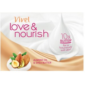 Buy Herbal Vivel Love & Nourish Soap With Almond Oil & Shea Butter Extra 33% - Nykaa