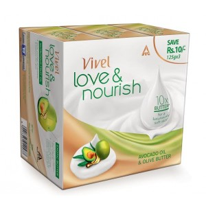 Buy Vivel Love & Nourish Soap With Avocado Oil & Olive Butter (Pack of 3) - Nykaa