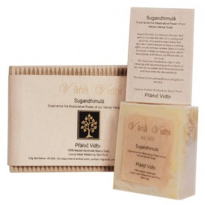 Buy Vana Vidhi Sugandhimula - Pure Vetiver Restorative Herbal Soap - Nykaa