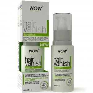 Buy Wow Hair Vanish Sensitive Bikni Zone & Underaram Body Hair Retardant 100ml - Nykaa