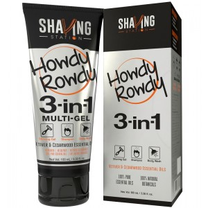 Buy Shaving Station Howdy Rowdy 3 in 1 Gel - Nykaa