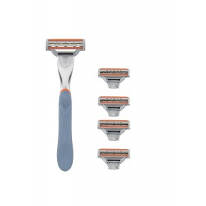 Buy WayToShave The Omega 3 Blade Razor (Pack of 4 Cartridges + 1 Razor Handle) - Nykaa