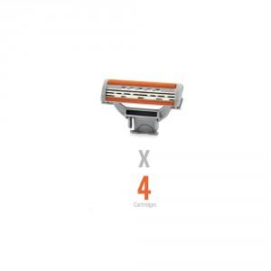 Buy WayToShave The Omega 3 (Pack of 4 Cartridges) - Nykaa