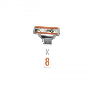 Buy WayToShave The Omega 3 (Pack of 8 Cartridges) - Nykaa