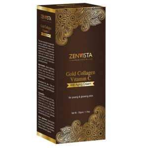 Buy Zenvista Gold Collagen & Vitamin-C Anti Aging Cream - Nykaa