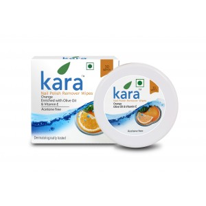Buy Herbal Kara Nail Polish Remover Wipes Orange - Nykaa