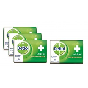 Buy Herbal Dettol Original Soap (Pack Of 3) + 125gm Dettol Soap Free - Nykaa