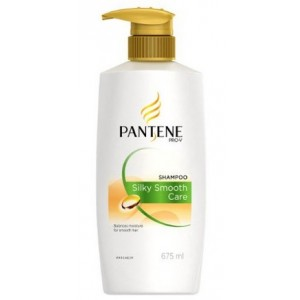 Buy Pantene Shampoo Silky Smooth Care 675 ml - Nykaa