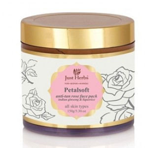 Buy Herbal Just Herbs Petalsoft Anti-Tan Rose Face Pack - Nykaa