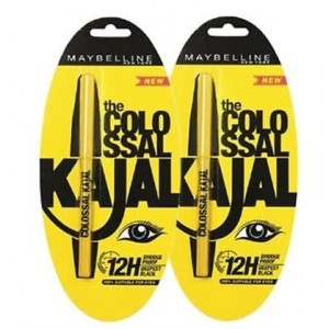 Buy Maybelline Colossal Kajal (Pack Of 2) - Nykaa