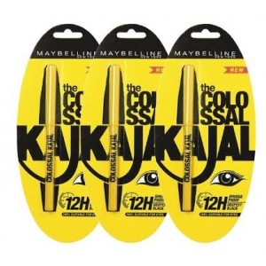 Buy Maybelline Colossal Kajal (Pack Of 3) - Nykaa