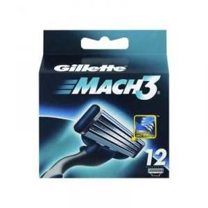 Buy Herbal Gillette Mach 3 Manual Shaving Razor Blades (Cartridge) 12s pack - Nykaa
