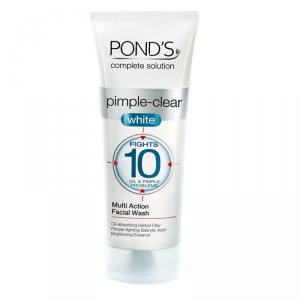 Buy Ponds Pimple Clear White Multi Action Face Wash & Scrub - Nykaa
