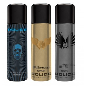 Buy Police Pack Of 3 - To Be Men, Millionaire And Wings Titanium - Nykaa